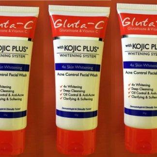 gluta c kojic plus face wash new