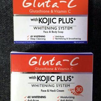 gluta c kojic plus whitening cream with soap new
