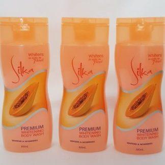 silka premium whitening body wash