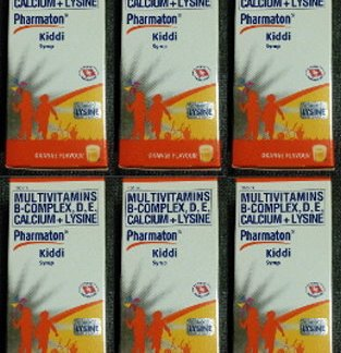 6 Pharmaton Kiddi Vit Syrup new