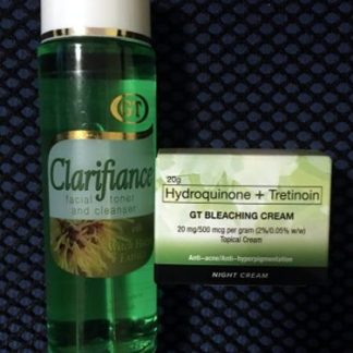 gt clarifiance toner and gt bleaching cream