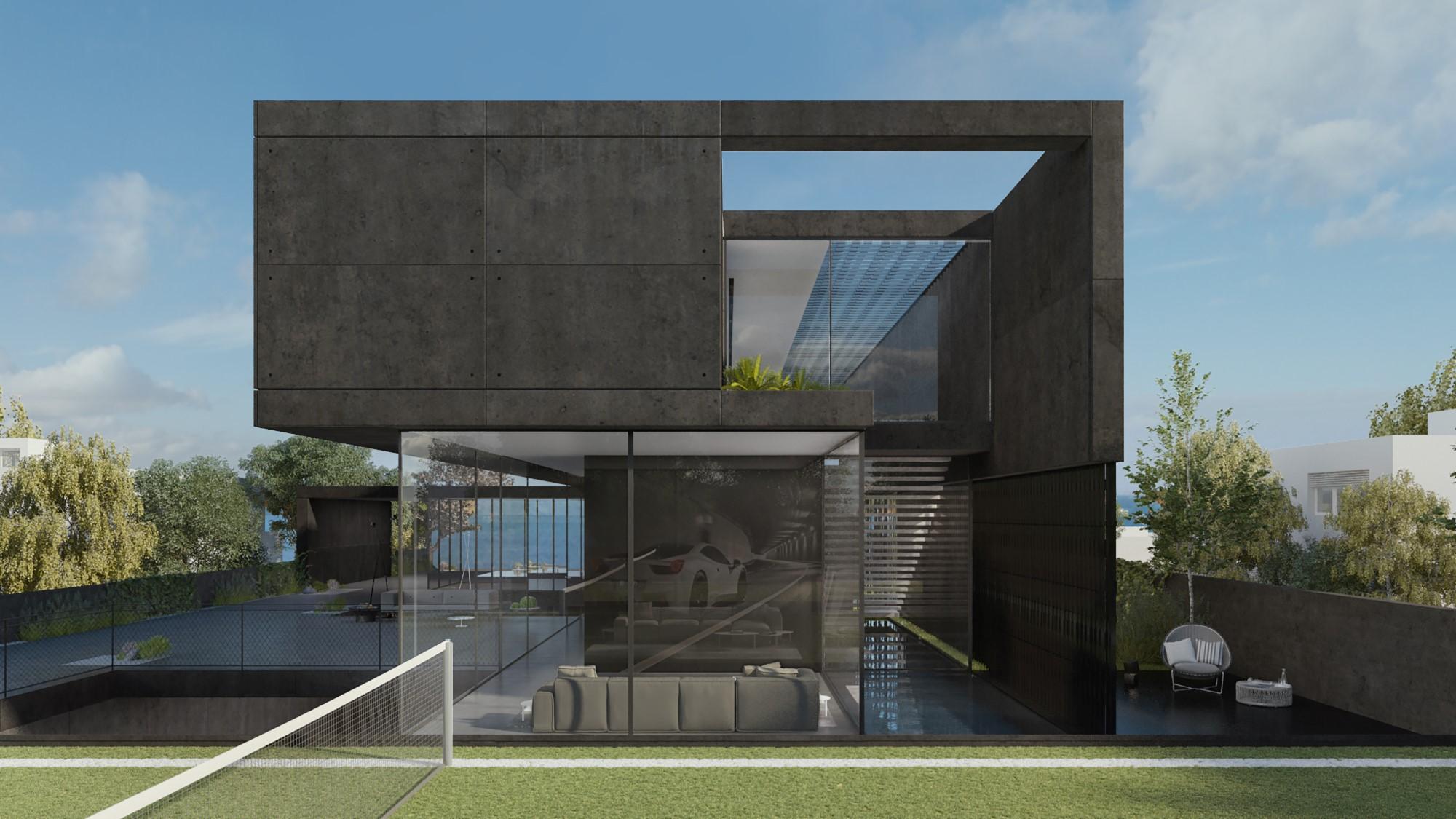 Free Photo Black Concrete Building Buildings City