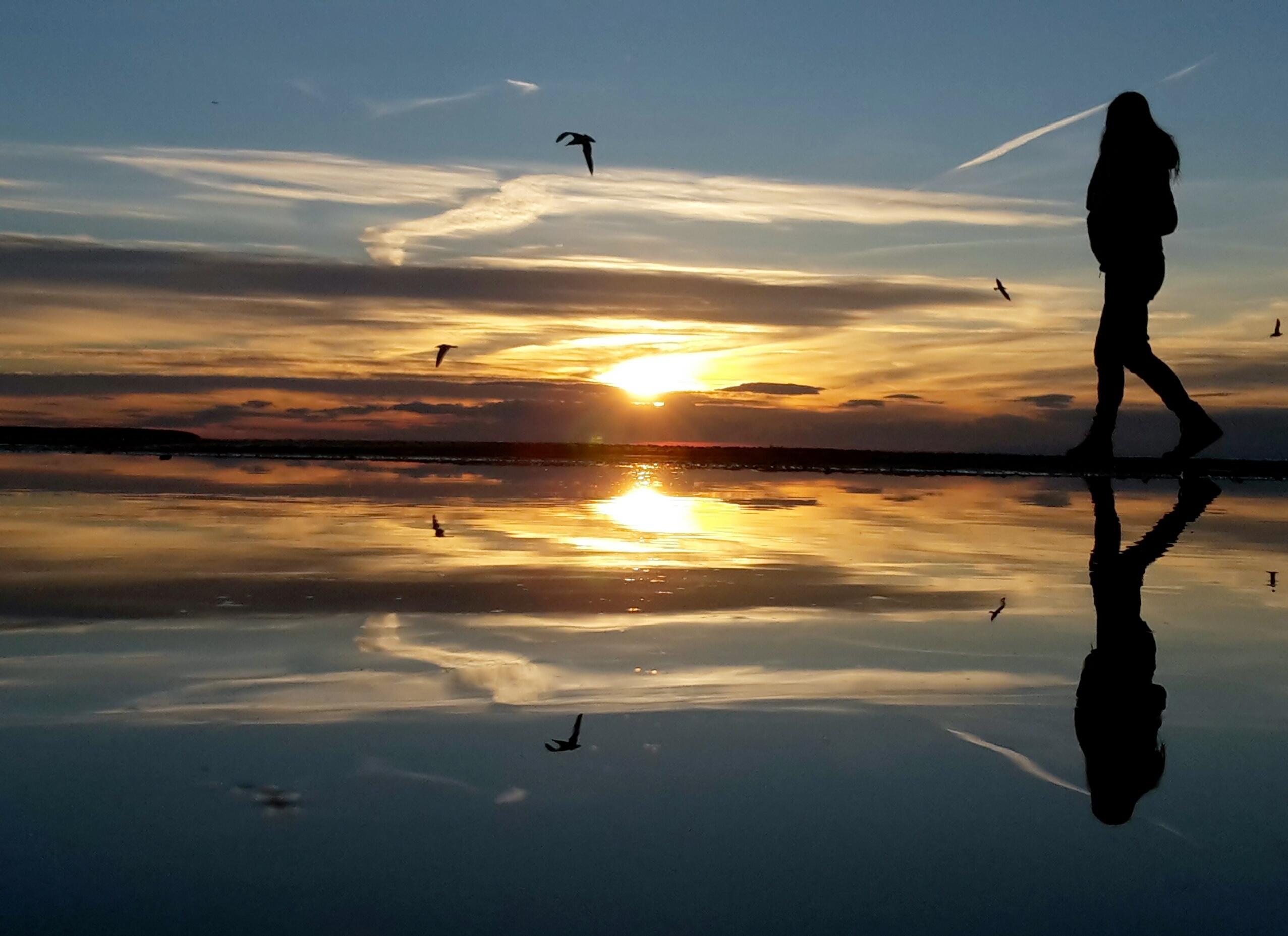 Free Photo Sun Rise Over Hill