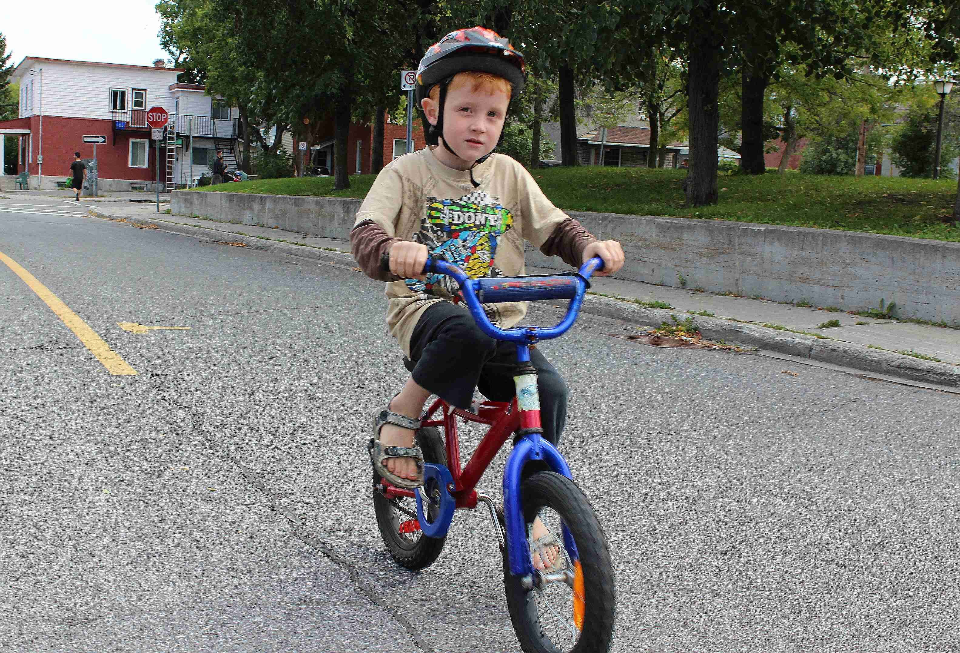 Free Photo Children Riding Bicycle