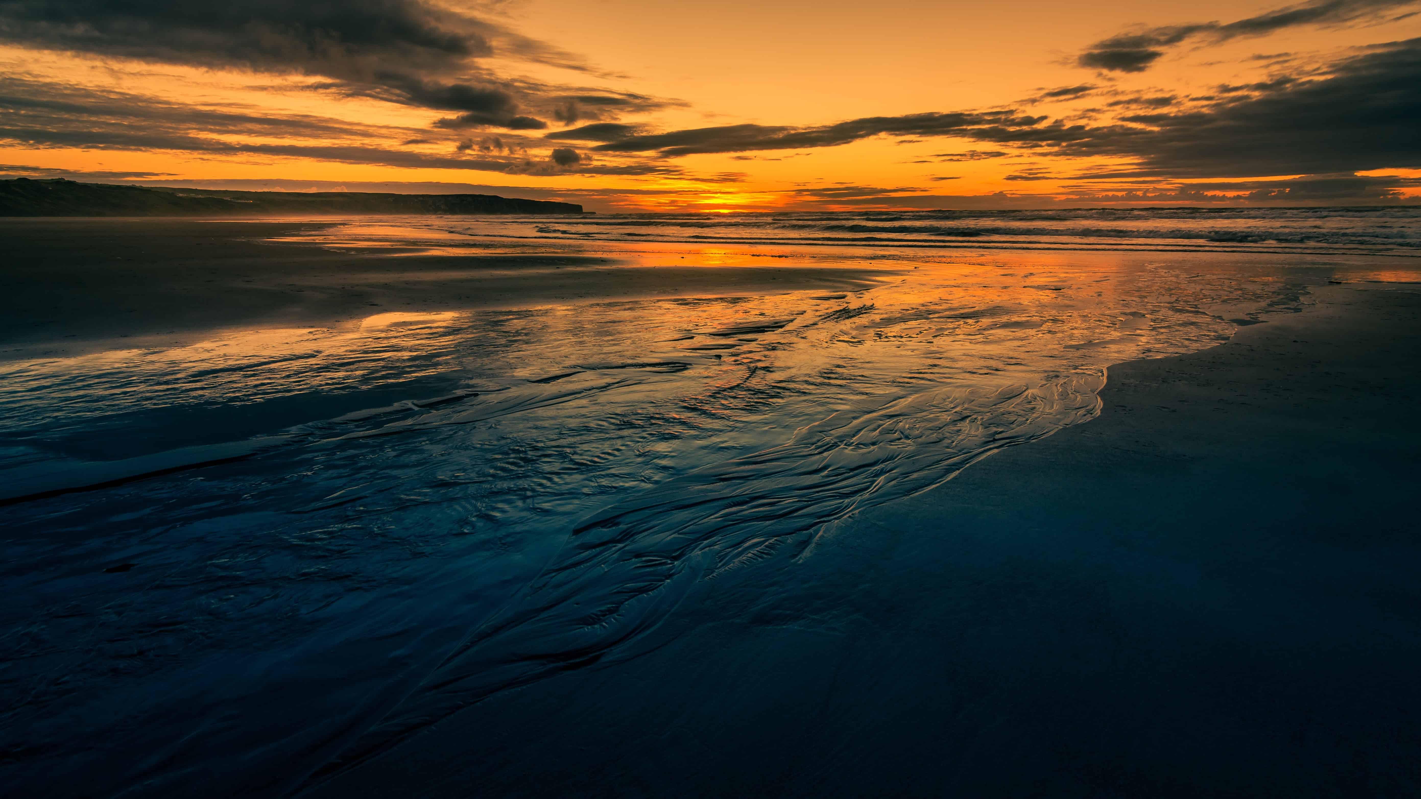 Free Photo Ocean Sunset
