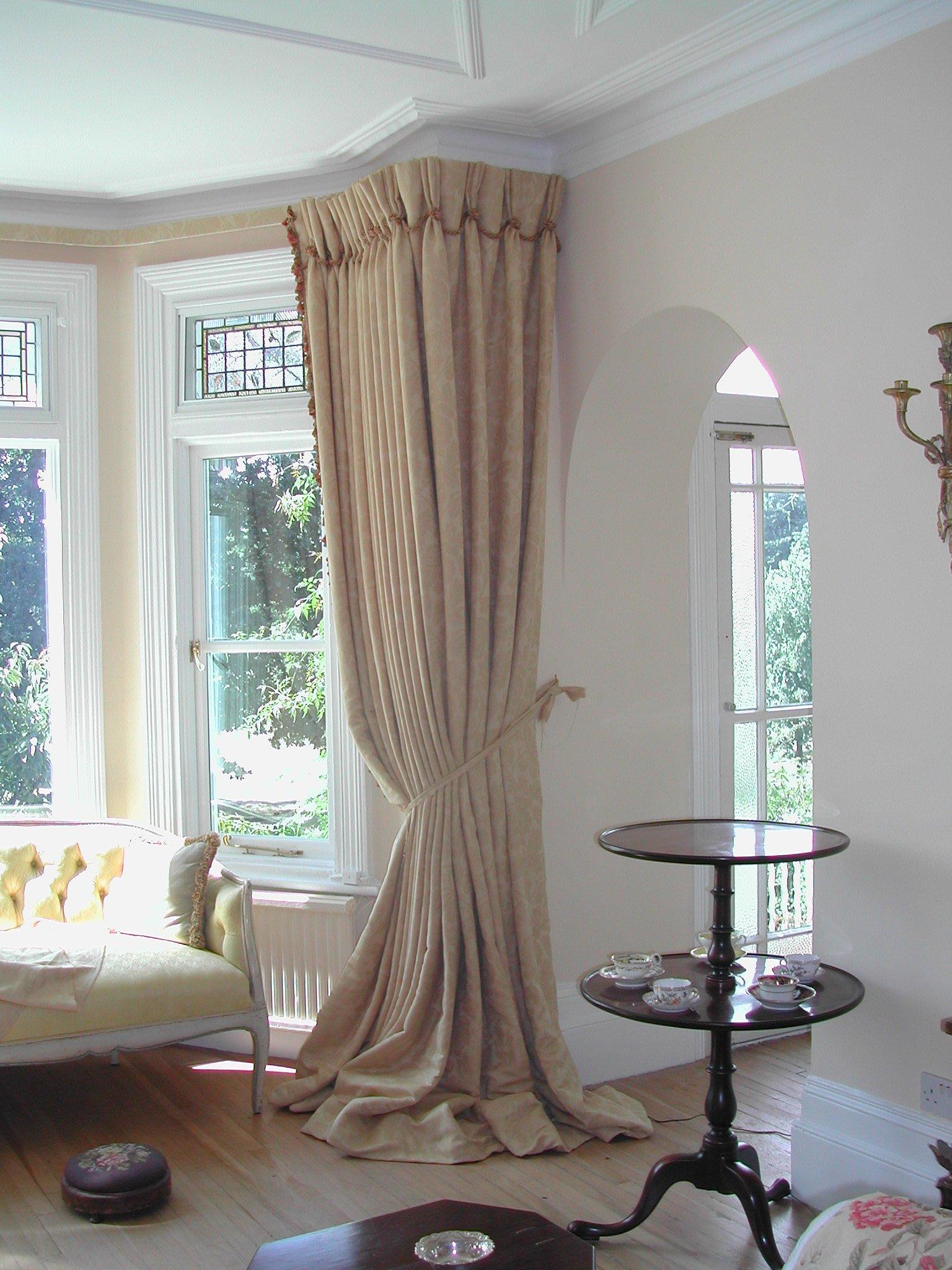 box bay window curtains ideas