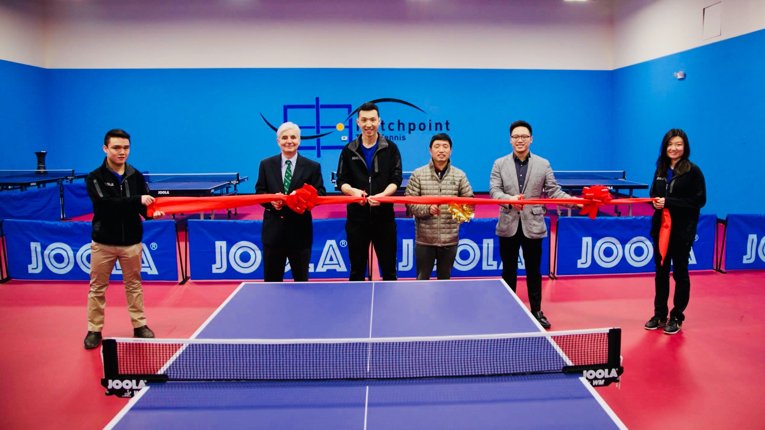 Matchpoint Table Tennis Center, owned by JOOLA- sponsored coach, Li Bochao, has successful grand opening