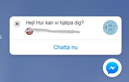 Chatta med vår messenger chatbot