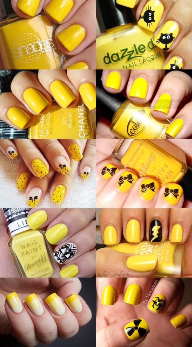 Uma Seleção de Unhas Amarelas, pra Você se Jogar Já!