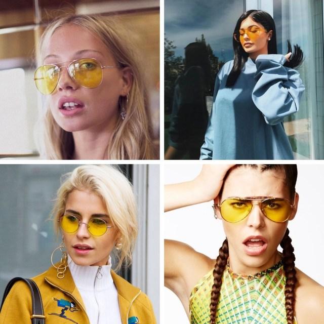 Lente amarela é tendencia - Trendy: Óculos de Lente Amarela