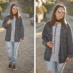 Look da Joo: Arrastão + Jeans Destroyed e Jaqueta Oversized