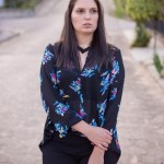 Look da Joo: Calça Preta e Blusa Dark Floral
