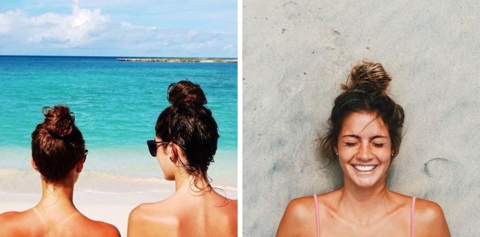 coque alto 01 - 3 Ideias de Penteados pra Abusar no Verão na Praia e Piscina