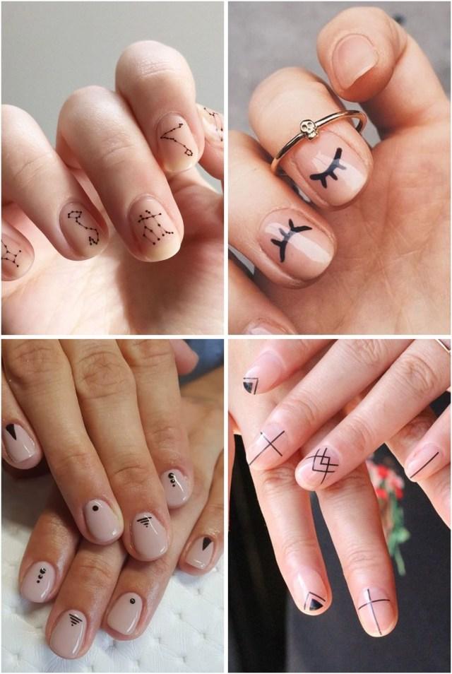 unhas minimalistas - A Febre do Minimalismo: Nail Arts