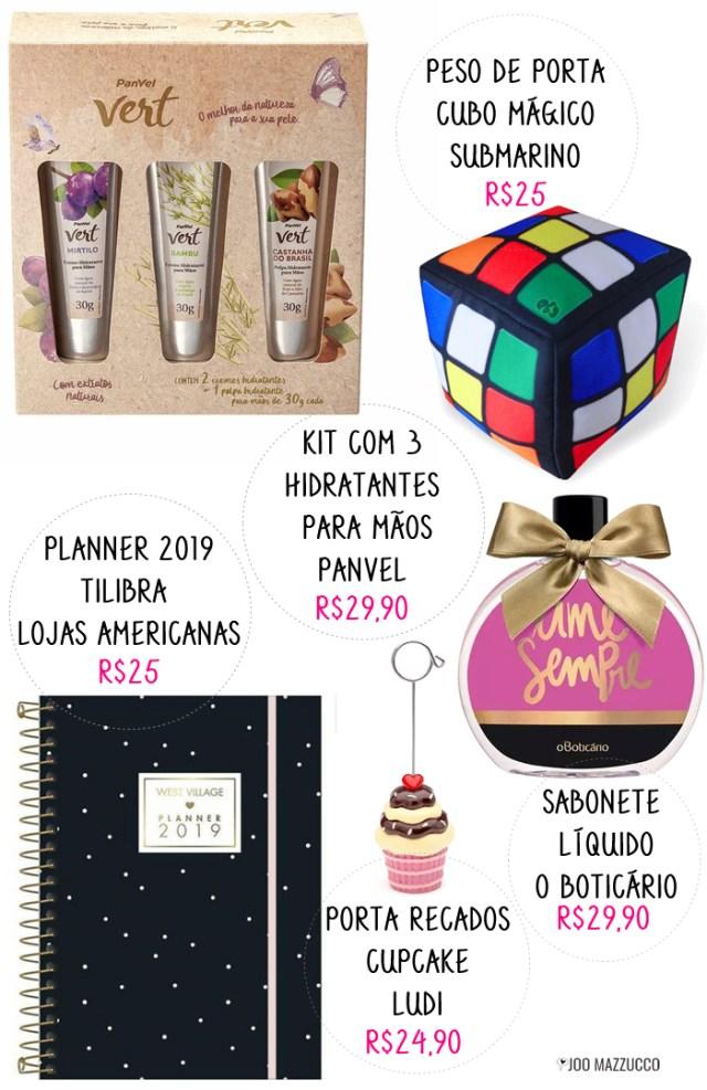 17 Presentes de Amigo Secreto pra Todos os Bolsos: de R$30 a R$100