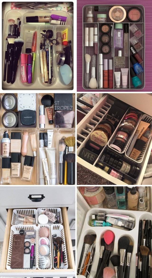 6 Jeitos de Organizar Maquiagens e Cosméticos