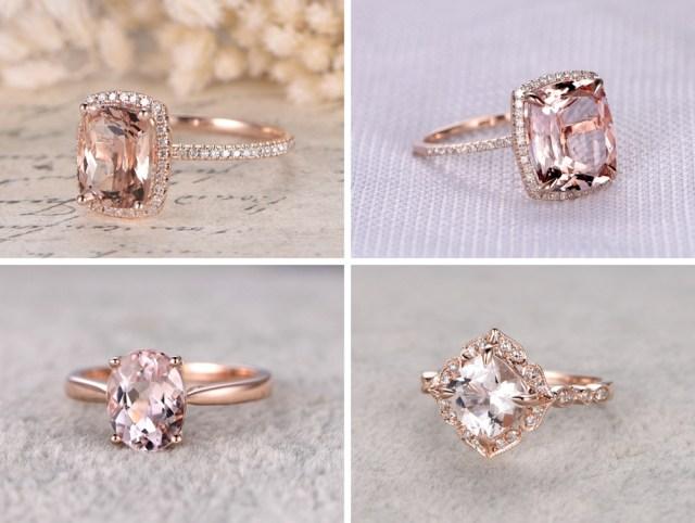 Morganite engagement ring rose gold - + 12 Idéias de Fotos pra Anunciar o Noivado nas Redes Sociais