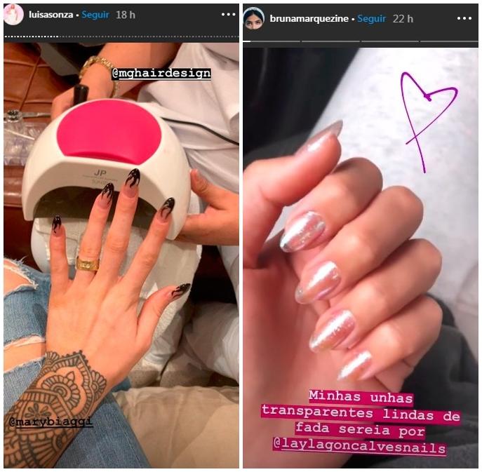 unhas transparentes famosas - Mais uma Moda do Instagram: Jelly Nails - as Unhas Transparentes