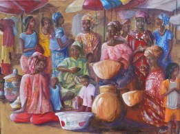 Scène de marché à Médina, Conakry