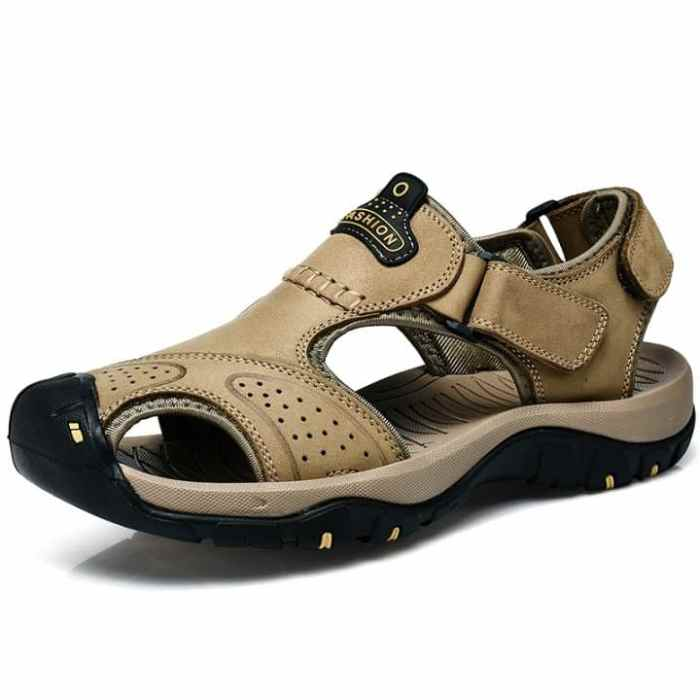 Leather Sandals - Open Shoes