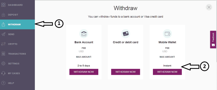 Withdraw from Skrill to Mpesa
