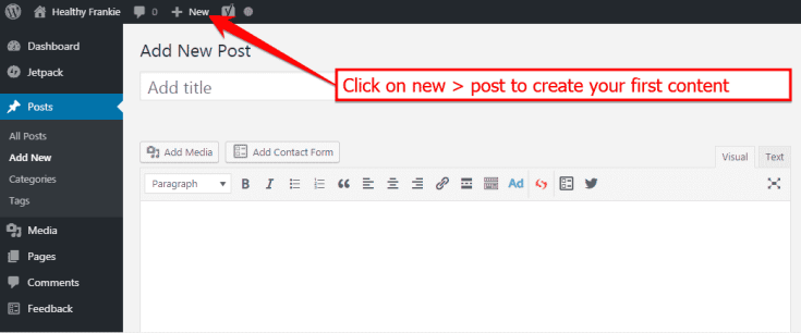 How to post on a wordpress website