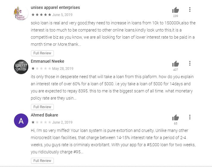 Sokoloan customer reviews