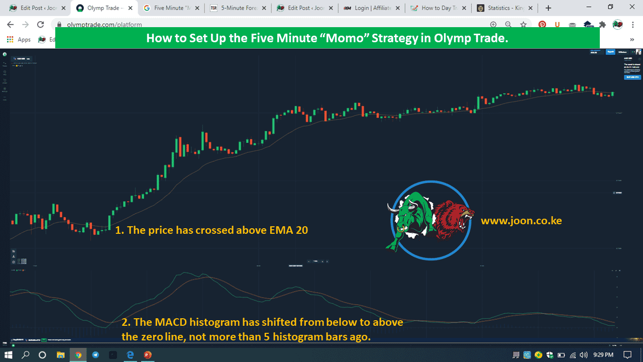 "How to Set Up the Five Minute ""Momo"" Strategy in Olymp Trade."