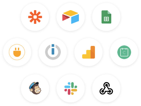 Collect data and pick the right integration that suits your need. Zapier, Integromat, our Webhook, you have everything.
