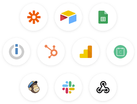 Handle data automatically using our chatbot integrations. Zapier, Email, Webhook, Google sheets and more.