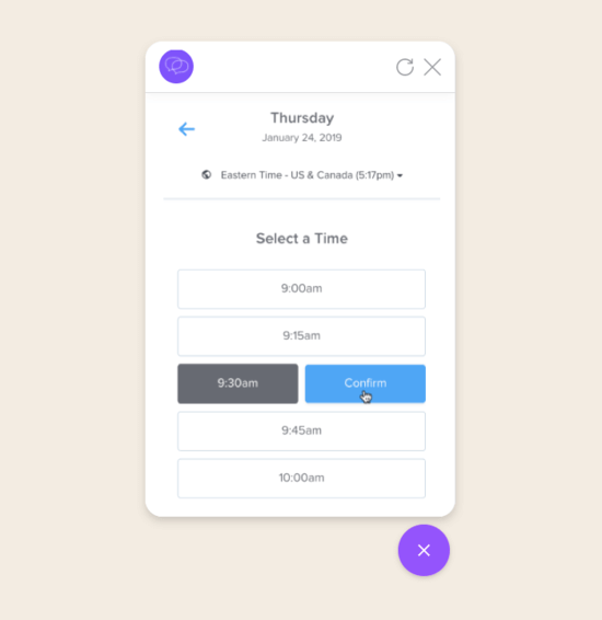 Use our Calendly integration to book meetings at scale