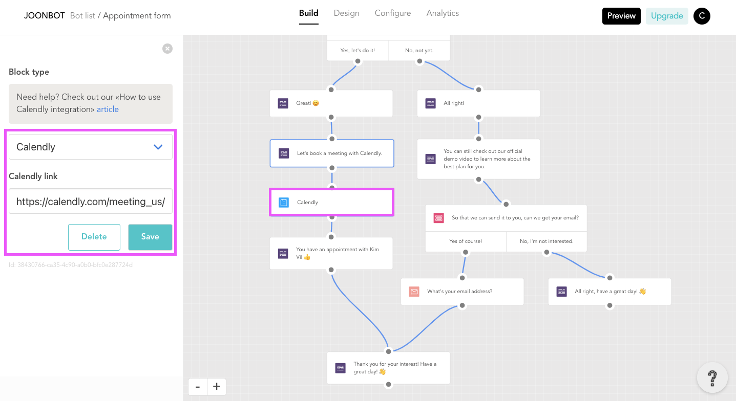 Joonbot is a good Typeform alternative because you see clearer where to book meetings with Joonbot.
