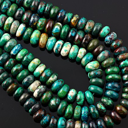 Joopy Gems Chrysocolla beads, 7-8mm gloss finish