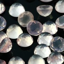 Joopy Gems 6mm rose cut rose quartz