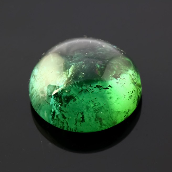 Joopy Gems blue-green tourmaline cabochon, 15.1mm round, 14.070 carats, $485