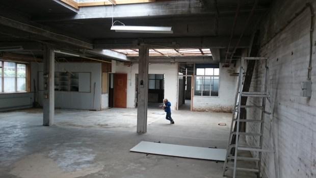 herbestemming timmerfabriek bestaand interieur