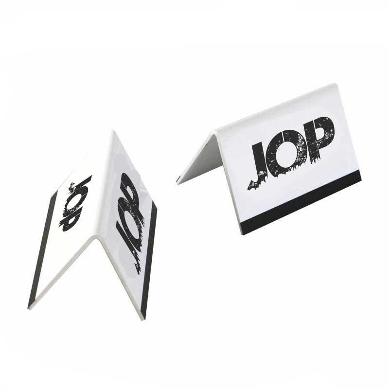 Señalizacion tipo carpa para escritorio reservado jop
