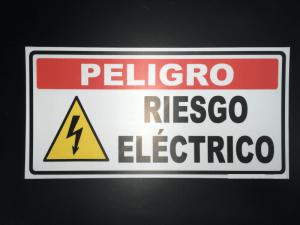 Señalización Peligro Riesgo Eléctrico