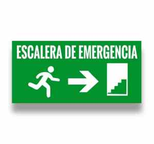 Señalización Escalera de emergencia