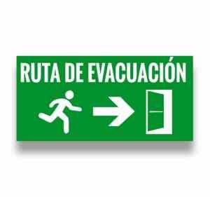 Señalización Ruta de evacuación