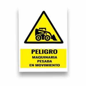 Señalización peligro maquinaria pesada