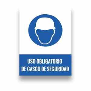 Señalización uso de casco