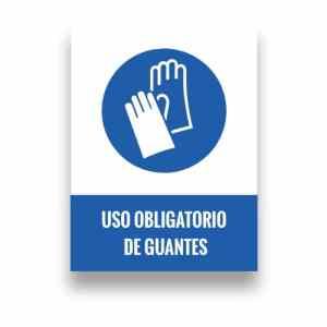 Señalización uso de guantes