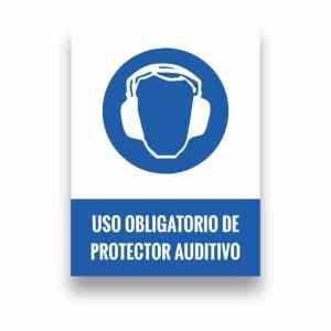 Señalización uso de protector auditivo