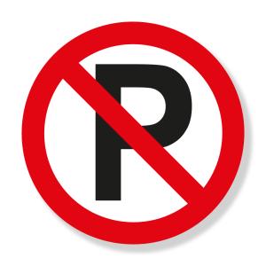 Prohibido Parquear (SR-28) Señalización Vial