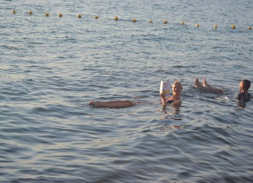Floating in Dead Sea - Jordan
