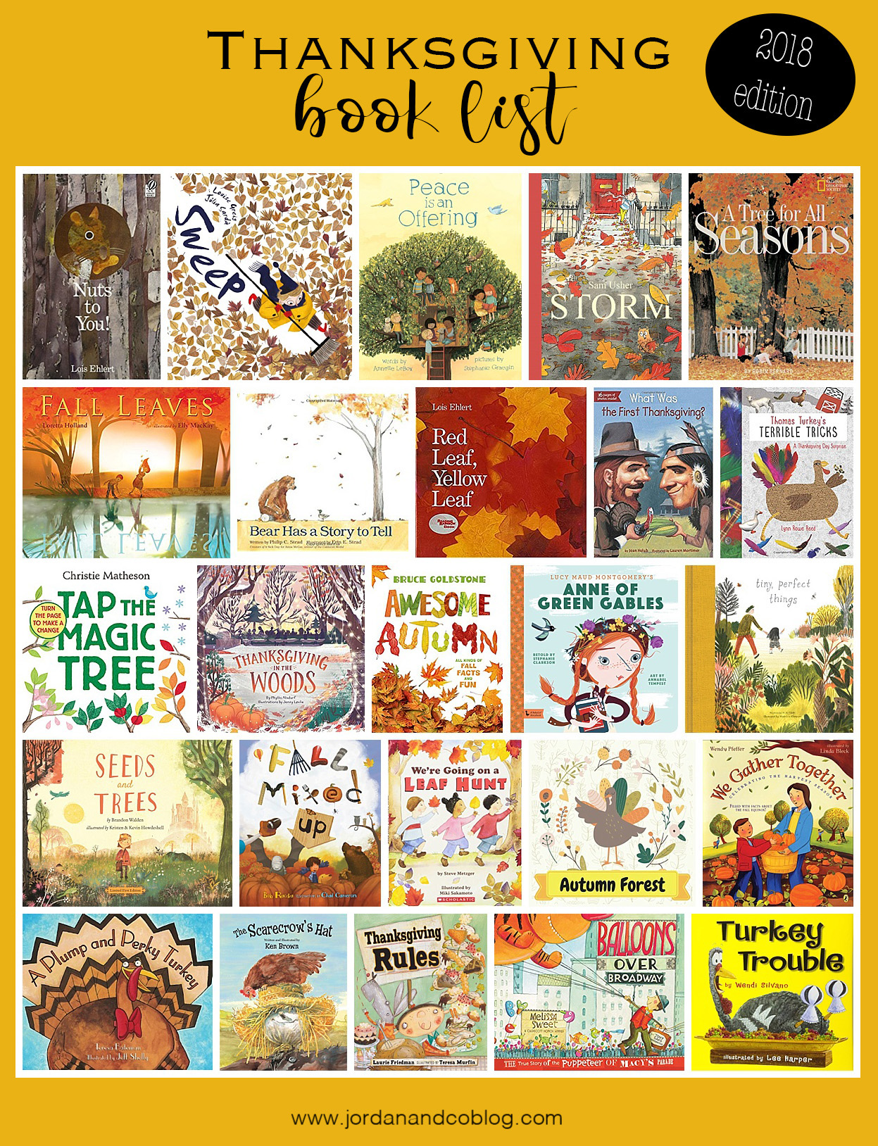 Thanksgiving/Fall Books 2018 – Jordan \u0026 Co