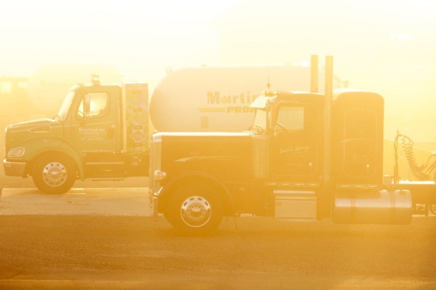 Trucking Commercial Photography Propane Sunlight Peterbilt