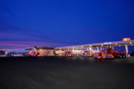 Commercial Photography Trucking Fleet Truckstop