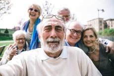 seniors taking selfie